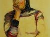 model-helen, aquarel met acryl maat 65 x 50 cm