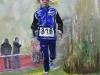 acryl opdracht schilderij Running 50x50 x 3 cm acryl
